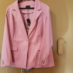 Plus-size blush blazer Nwt Lane Bryant brand